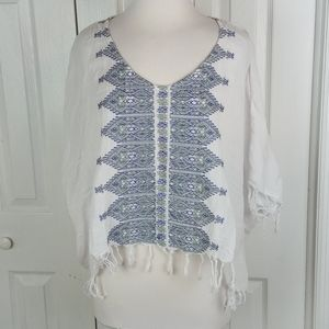 Signature 8 Oversized Embroidered Crop Top Size S